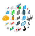 tv hardware icons set isometric style vector image vector image