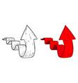 up arrow hand drawn sketch vector image vector image