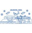 usa texas arlington winter city skyline merry vector image vector image