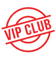 vip club rubber stamp vector image vector image