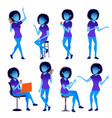 woman set modern gradient colors people vector image