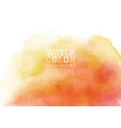 yellow-orange liquid stain watercolor background vector image
