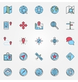 Location icons set vector image