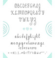 Set capital English handwriting font Font handmade vector image