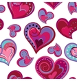 Hearts seamless pattern Doodle hand draw vector image