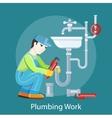 Plumbing Work Concept vector image
