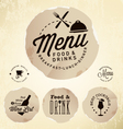 Restaurant Menu Design Elements in Vintage Style vector image
