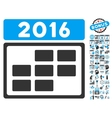 2016 Calendar Grid Flat Icon With Bonus vector image vector image