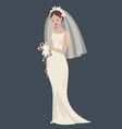 a bride in a wedding dress vector image vector image