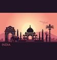 abstract landscape with sights india and a vector image vector image