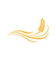 agriculture wheat logo template icon design