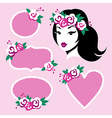 beauty girl frames vector image