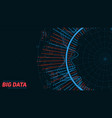 big data circular visualization futuristic vector image vector image