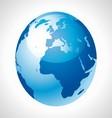 Blue Earth Globe stock free vector image vector image