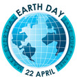 blue make everyday earth day poster vector image vector image