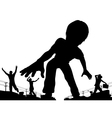 Boy giant vector image vector image