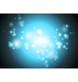 Bright blue abstract shiny lights background vector image vector image
