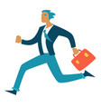 business deadline businessman in hurry running vector image