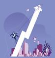 businessman climbing rising arrow success concept vector image vector image