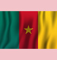 cameroon realistic waving flag national country vector image vector image