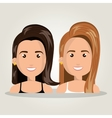 cartoon women smiling team isolated vector image