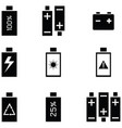 charging icon set vector image