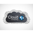 Cloud computing concept design vector image vector image