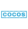 Cocos Rubber Stamp vector image vector image
