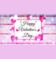 colorful valentines day with colorful hearts vector image vector image