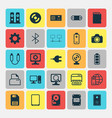 computer icons set collection of web camera vector image