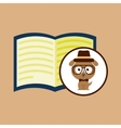 concept hipster book read vector image