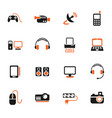 devices icon set vector image vector image