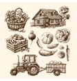 eco farm sketch vector image vector image