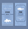 elegant vintage seafood or fish menu idea vector image vector image