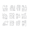 Flat clothes complect icons vector image vector image