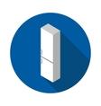 flat icon refrigerator vector image vector image