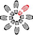 FootprintsCircle vector image vector image