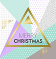 Gold Merry Christmas design on retro background vector image vector image