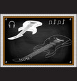 guitar on a black vector image vector image