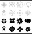 hand drawn flower collection vector image vector image