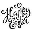 happy easter poster vector image vector image