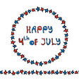happy usa independence day 4 th july lettering in vector image vector image