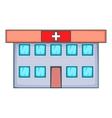 Hospital icon cartoon style vector image