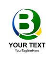 initial letter b logo design template element vector image vector image