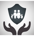 Insurance design protection concept isolated vector image