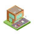 isometric hardware store location with 3d vector image vector image