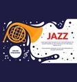 jazz music art festival event flyer musical fest vector image vector image