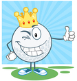 King golf ball golfer vector image vector image
