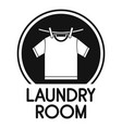 laundry clothes room logo simple style vector image