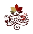 Lettering - Red Tea vector image vector image